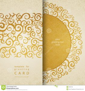 blank wedding invitation templates vintage greeting cards invitation lace gold ornament golden curls template frame design card you can place your text