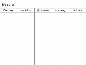 blank work schedule best photos of day calendar template word weekly schedule abry