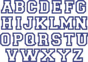 block letter font outline block