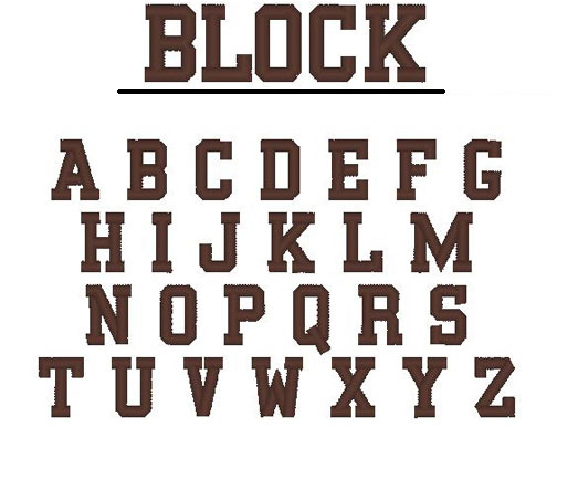 block letter fonts block lettering font template business 1093