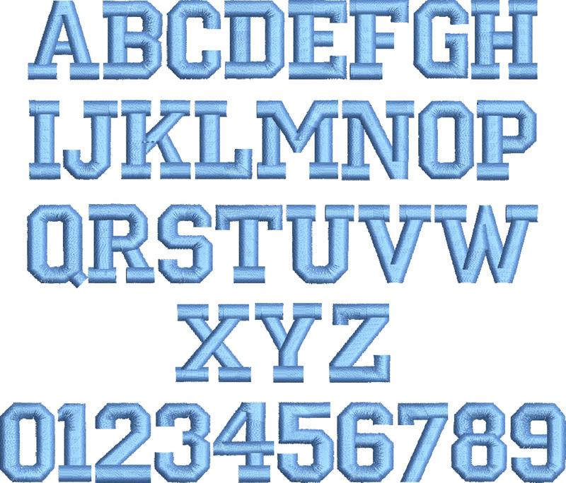 block letters font