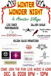 block party flier winter wonder party