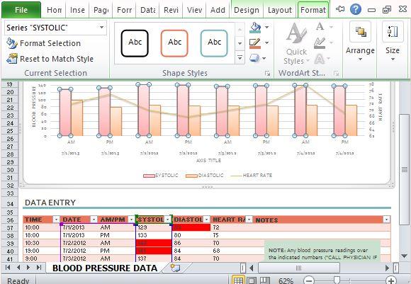 Blood Pressure Record Charts Akbaeenw