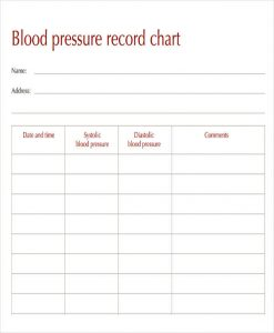 blood pressure recording charts record blood pressure chart