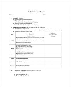 board meeting agenda template blank monthly meeting agenda sample