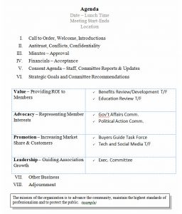 board meeting agenda template consent agenda template