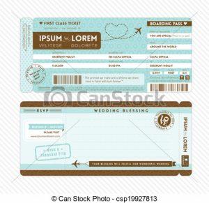 boarding pass invitation can stock photo csp
