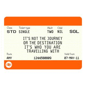boarding pass invitation original personalised train ticket print