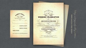 boarding pass invitation vintage wedding invitation swirls script chic