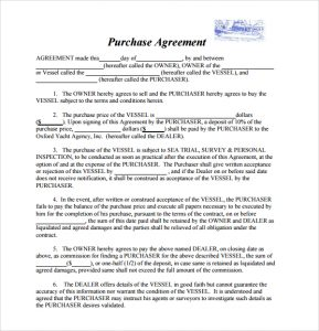 boat bill of sale template boat purchase agreement form
