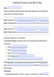 boat bill of sale template california firearm bill of sale form x