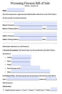 boat bill of sale template wyoming firearm bill of sale
