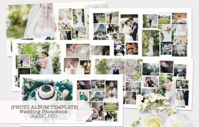 book cover template photoshop wedding photobook template