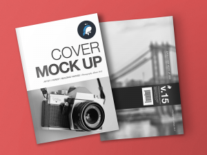 book mockup free free magazine and cover mockup
