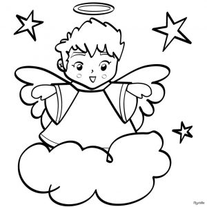 book outline template printable christmas angels