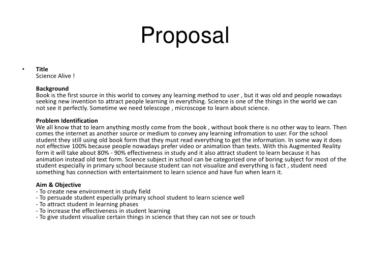 book proposal sample