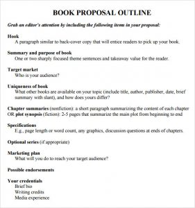 book proposal template book proposal outline template