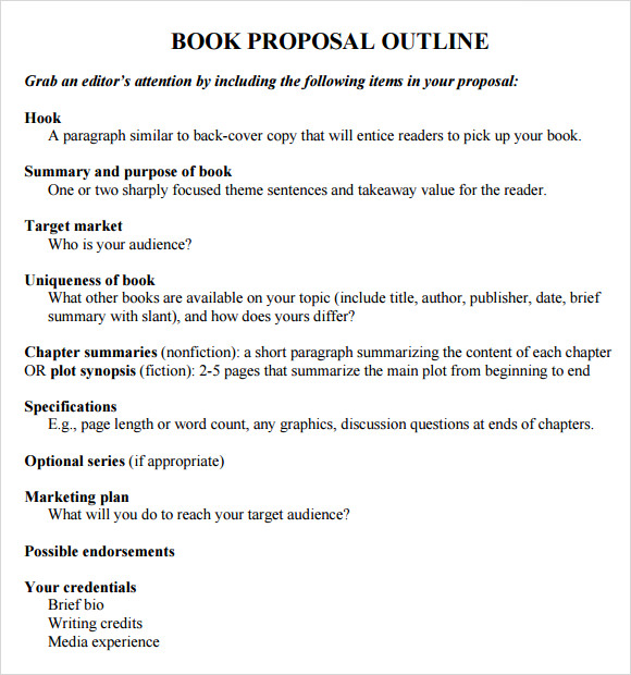 Book Proposal Template  Template Business