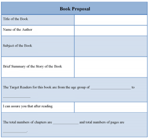 book proposal template bookproposaltemplate