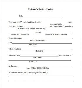 book proposal template childrens book proposal pdf download