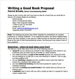 book proposal template writing a good book proposal pdf downlaod