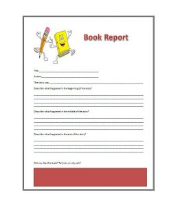 book report format book report template 02