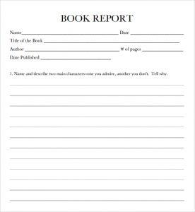 book report format book report template image 3