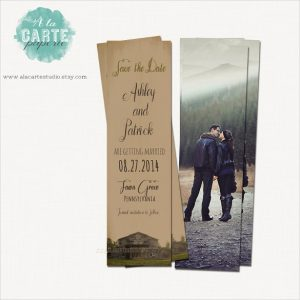 bookmark save the date save the date library wedding bookmark