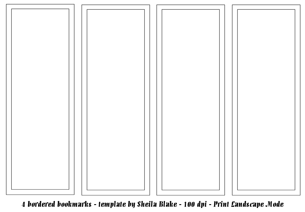 This is an image of Impeccable Free Printable Bookmark Templates