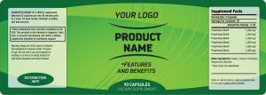 bottle labels templates green