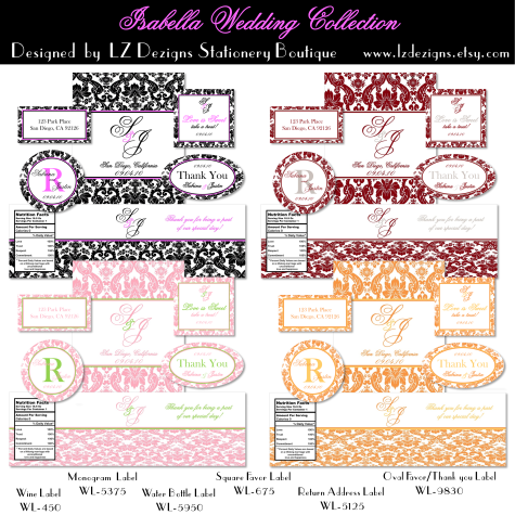 bottle labels templates
