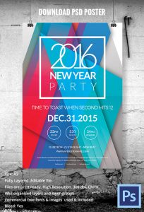 bottles mock up beautiful new year party poster template