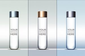 bottles mock up cylindrical water bottle mockup