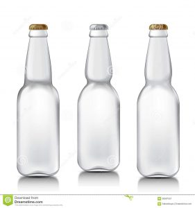 bottles mock up set realistic glass bottles transparent beer patterns ready your design mock up template ready your design