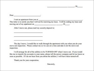breaking lease letter apartment rent termination letter