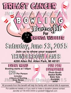 breast cancer flyer breast cancer bowling benefit flyer