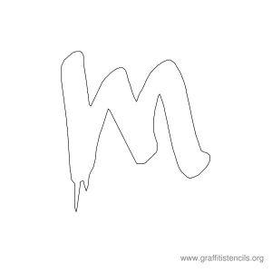 bubble letter stencils urban graffiti stencil letter m