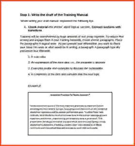 bubble letter template training manual template sample training manual template example