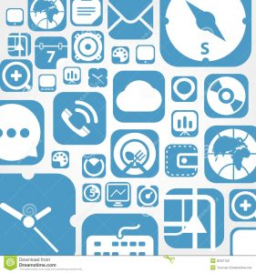 bubble map template flying web graphic interface icons background