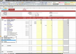 budget calendar template construction job costing spreadsheet template