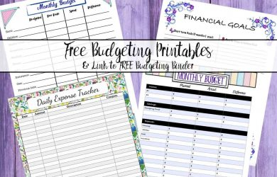 budget planner templates budgeting small title