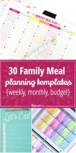 budget planning template family meal planning templates weekly monthly budget