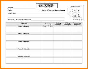 budget planning template e lesson plan template