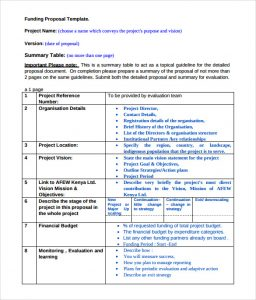 budget proposal templates funding proposal template example