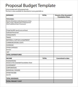 budgetary proposal template budget proposal sample
