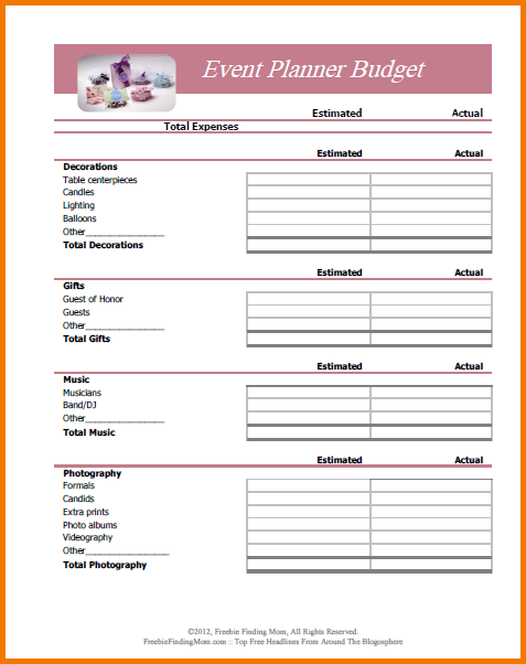 budgeting planner template