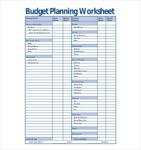 budgeting planner template sample budget planning worksheet template pdf docx