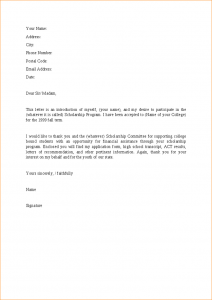 buisness letter format a letter for scholarship letter to apply for scholarship