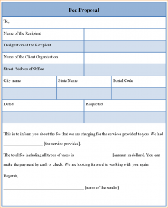 buisness letter format proposal templates feeproposaltemplate