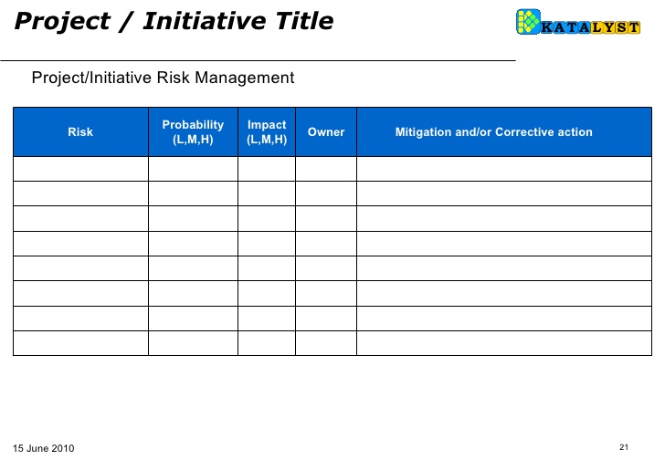 Business Action Plan Template  Template Business